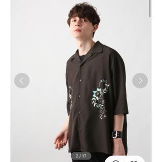 HARE - 【50%OFF‼️】hare シシュウカイキンシャツ 刺繍 開襟 オープンカラー