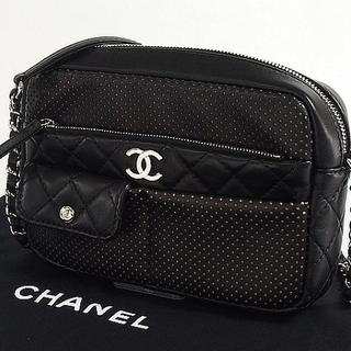 CHANEL - シャネル マトラッセ レザー カメラケース ショルダーバッグ ブラック 新品