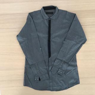 ライトオン(Right-on)のシャツ 【美品】グレー GLAY  コットン レギュラー Lサイズ (シャツ)