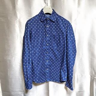ブルーブルー(BLUE BLUE)のBLUE BLUEドット柄インディゴシャツ(シャツ)