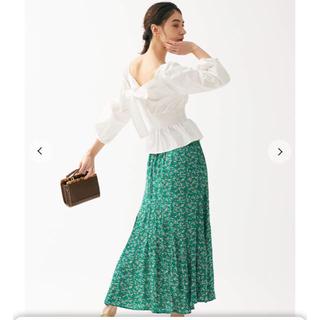 snidel - 新作新品🌷スナイデル プリントフレアナロースカート