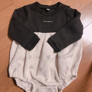 futafuta - バースデイ ロンパース 花柄 birthday