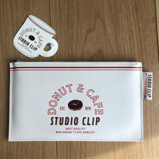 スタディオクリップ(STUDIO CLIP)のstudio CLIP DONUT&CAFE フラットポーチ(ポーチ)