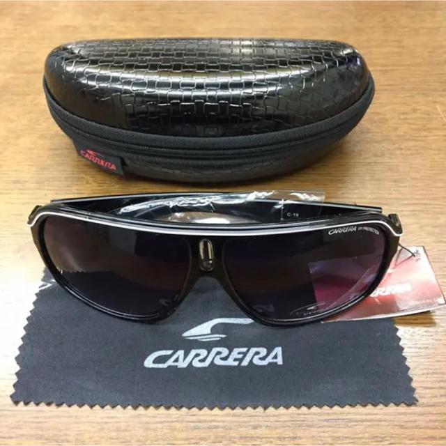 新品・未使用★CARRERA/カレラ★サングラス/ブラック/C19/UV400 メンズのファッション小物(サングラス/メガネ)の商品写真