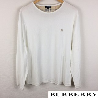 BURBERRY - 美品 BURBERRY London 長袖カットソー ホワイト サイズL