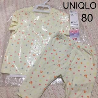 UNIQLO - 新品 ユニクロ ミッキー Tシャツ パンツ セット 80 レギンス ディズニー