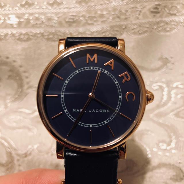 ロレックス スーパー コピー 時計 高級 時計   MARC JACOBS - MARC JACOBS 腕時計 メンズ ユニセックス 紺 ネイビー 箱付きの通販