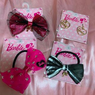 バービー(Barbie)のヘアゴム バービー barbie コラボ イヤリング リボン アクセサリー(ヘアゴム/シュシュ)