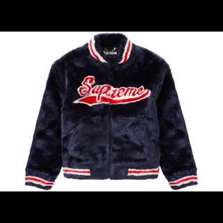 Supreme - Supreme 20ss Faux Fur varsity Jacketネイビー