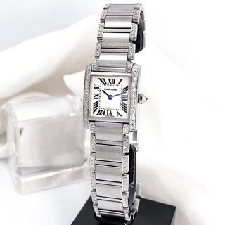 Cartier - 【仕上済】カルティエ フランセーズ シルバー ブレスサイドフルダイヤ 時計