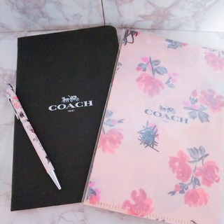 COACH - 【送料込】COACH ノート ファイル ボールペン 3点セット