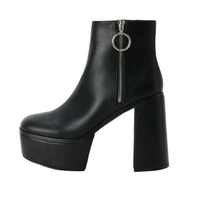 MURUA(ムルーア)のMURUA❤︎リングライダースブーツ レディースの靴/シューズ(ブーツ)の商品写真