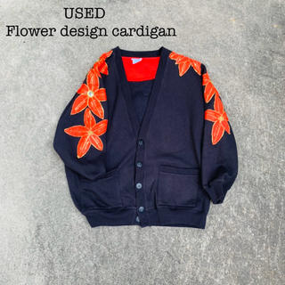 【USED】embroidered design cardigan(カーディガン)