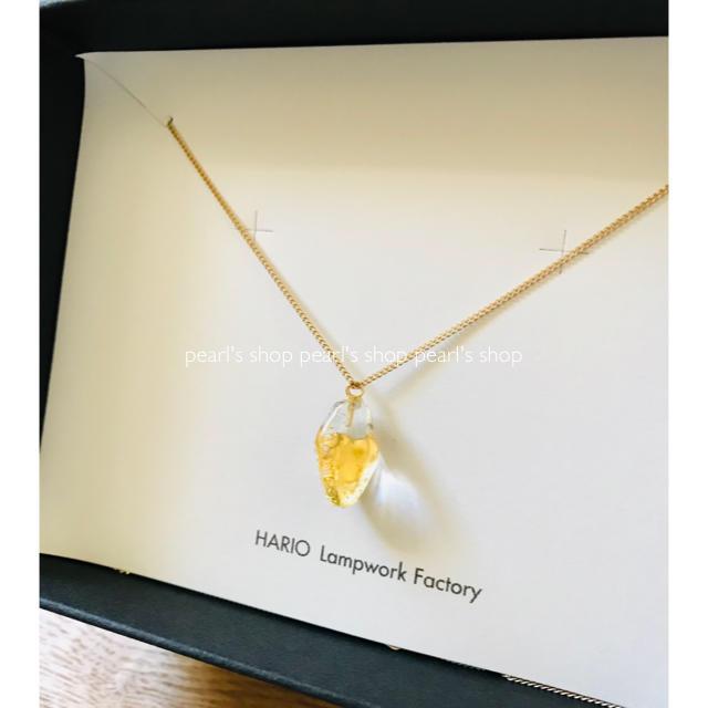 HARIO(ハリオ)のHARIO Lampwork Factory* Haku ストーンネックレス  レディースのアクセサリー(ネックレス)の商品写真