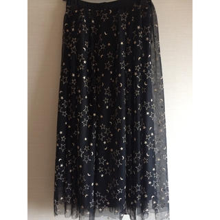 GRACE CONTINENTAL - グレースコンチネンタル スタームーン刺繍チュールスカート