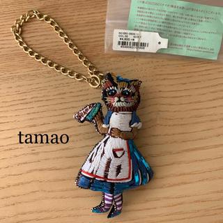 tamao - Tamao タマオ 刺繍 ネコ ねこ 猫 チャーム ブローチ 童話シリーズ