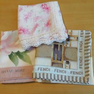 FENDI - ブランドハンカチ 3枚セット*FENDI、Nina Ricci