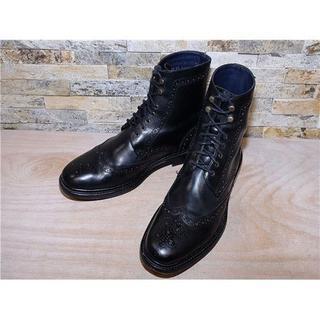 Cole Haan - コールハーン ウイングチップアンクルブーツ 黒 27,5cm
