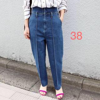 IENA - IENA CURRENTAGE ハイウエストデニム ブルー 38