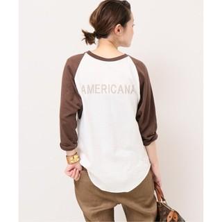 DEUXIEME CLASSE - 《完売》ドゥーズィエムクラス購入 アメリカーナ ベースボール Tシャツ ブラウン