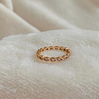 アビステ(ABISTE)の美品★アビステ 指輪 ピンクゴールド ジルコニア 10号(リング(指輪))