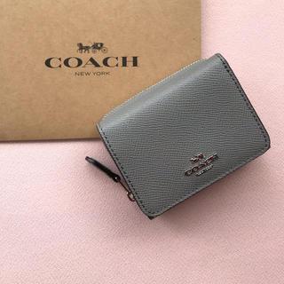 COACH - 【新品】COACH グレー3つ折り財布