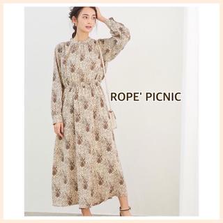 Rope' Picnic - ロペピクニック M 38 ロングワンピース 春 花柄 大人おしゃれ
