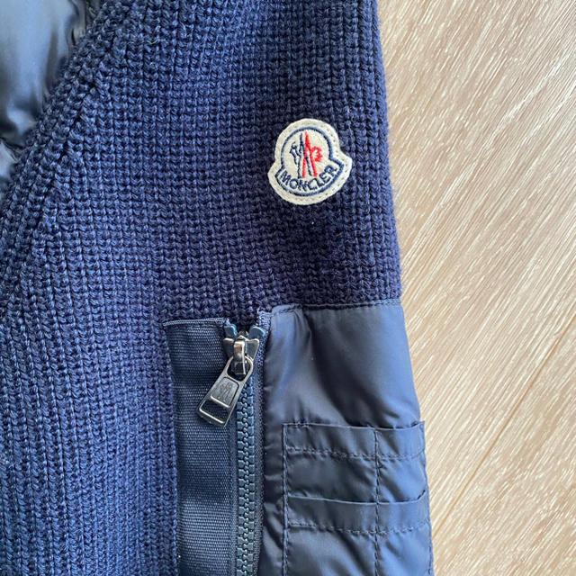 MONCLER(モンクレール)のモンクレール Moncler ニットダウン サイズM ネイビー メンズのジャケット/アウター(ダウンジャケット)の商品写真