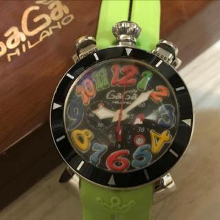 ガガミラノ(GaGa MILANO)の★GaGa MILANO★ガガミラノ★メンズクォーツラバーバンド腕時計 付属品(腕時計(デジタル))