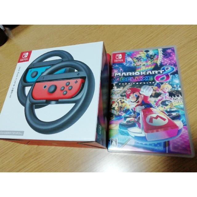 Nintendo Switch(ニンテンドースイッチ)のマリオカート8 デラックス Switch ハンドル エンタメ/ホビーのゲームソフト/ゲーム機本体(家庭用ゲームソフト)の商品写真