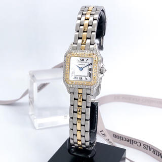 Cartier - 【保証書付/OH済】カルティエ パンテール SM コンビ ダイヤ 腕時計