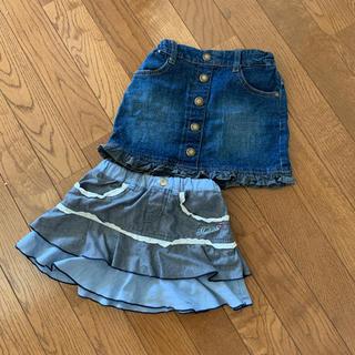 ハッシュアッシュ(HusHush)のスカート 100サイズ(スカート)