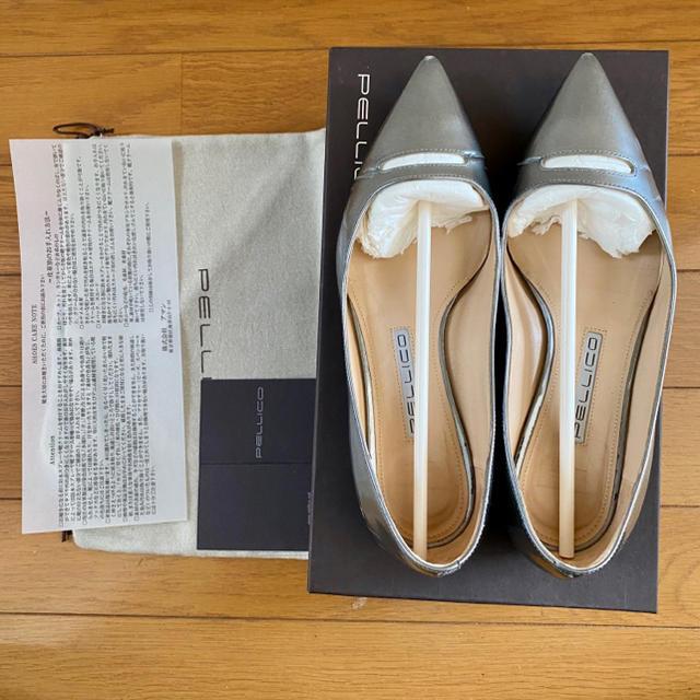 PELLICO(ペリーコ)の最終価格☆PELLICO ANDREA シルバーフラットパンプス レディースの靴/シューズ(ハイヒール/パンプス)の商品写真