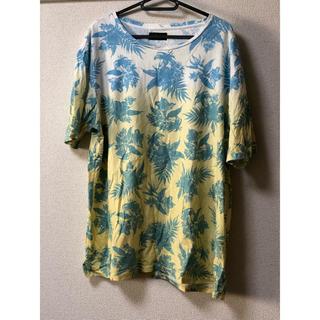 ZARA - ZARA柄Tシャツ ザラ メンズ 大きいサイズ 花柄 ティーシャツ 夏 服 男性
