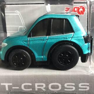 フォルクスワーゲン(Volkswagen)のVW フォルクスワーゲン T-CROSS Tクロス チョロQ 青 ブルー 非売品(ミニカー)