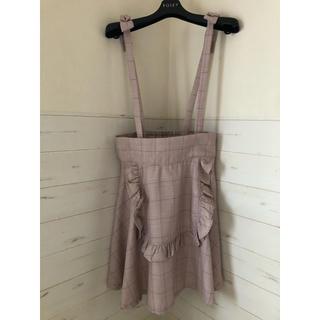 アンクルージュ(Ank Rouge)のアンクルージュ フリルりぼんスカート ピンク 未使用(ミニスカート)