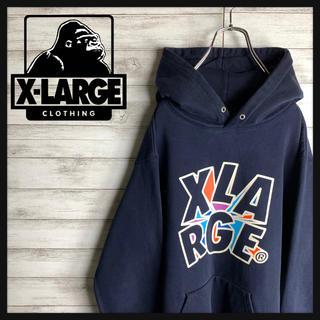 XLARGE - 【定番】エクストララージ☆ビッグロゴ入りパーカー 人気文字ロゴ ビッグサイズ