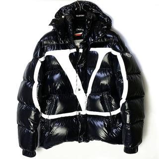 ヴァレンティノ(VALENTINO)のモンクレール ヴァレンティノ ダウン V 黒 ブラック MONCLER(ダウンジャケット)