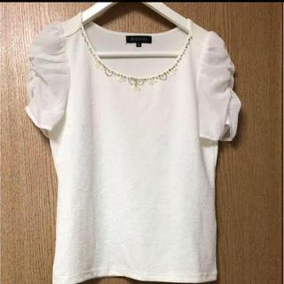 ミッシュマッシュ(MISCH MASCH)の新品 ミッシュマッシュ ビジュー トップス(Tシャツ(半袖/袖なし))