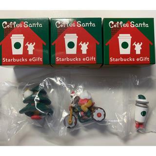 スターバックスコーヒー(Starbucks Coffee)のスターバックス コーヒーサンタ3個セット 2019  赤サンタ(ノベルティグッズ)