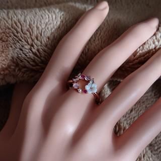 s925 シルバーリング ピンクゴールド かわいい SAMANTHA風(リング(指輪))