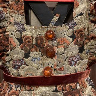 Shirley Temple - シャーリーテンプル クマ ゴブラン ワンピース  100