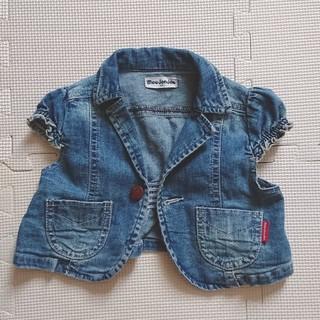ムージョンジョン(mou jon jon)のmou jon jon デニムジャケット 半袖 95(ジャケット/上着)