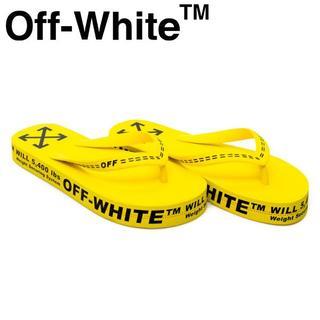 オフホワイト(OFF-WHITE)の4 OFF-WHITE 20ss イエロー ロゴ フラットソール サンダル40(サンダル)