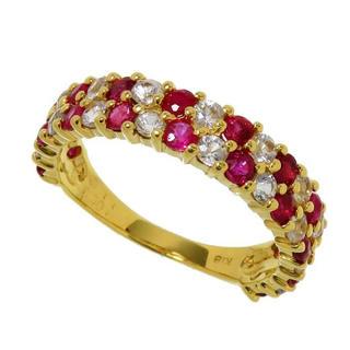 ルビー&ホワイトサファイアリング 指輪 K18 指輪(リング(指輪))