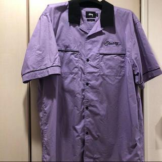 ステューシー(STUSSY)の半袖シャツ  STUSSY ボーリングシャツ 紫(シャツ)