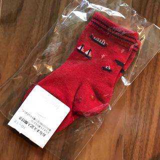familiar - 新品未開封 ファミリア ベビー靴下 赤