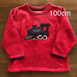 オシュコシュ(OshKosh)の機関車 綿セーター 赤 3T(ニット)