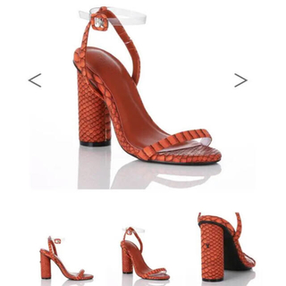 イエローブーツ(Yellow boots)のYello shoes ECHO SANDALS - Orange(ハイヒール/パンプス)
