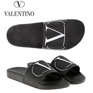 ヴァレンティノ(VALENTINO)の2 VALENTINO Vロゴ ラバー サンダル シャワーサンダル size44(サンダル)